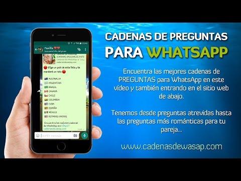 Cadenas de preguntas para WhatsApp ¡100% ORIGINALES!