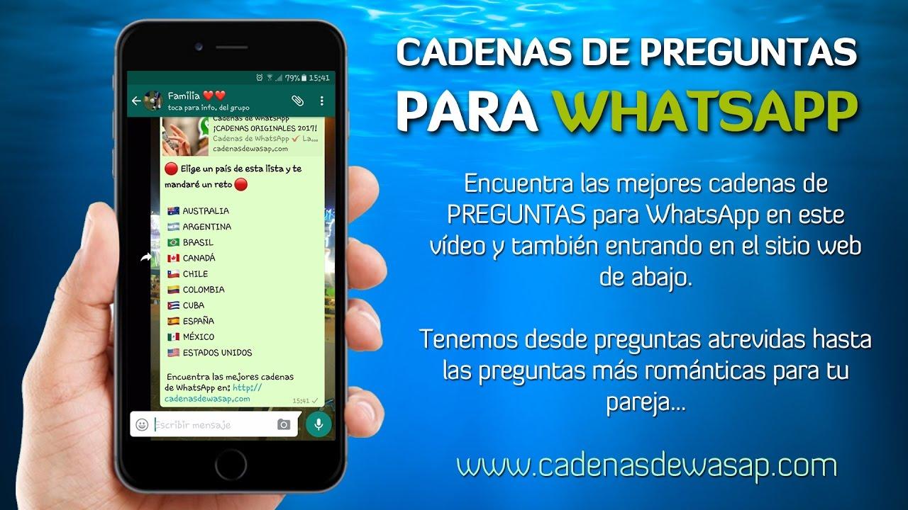 Cadenas De Preguntas Para Whatsapp Nunca Vistas