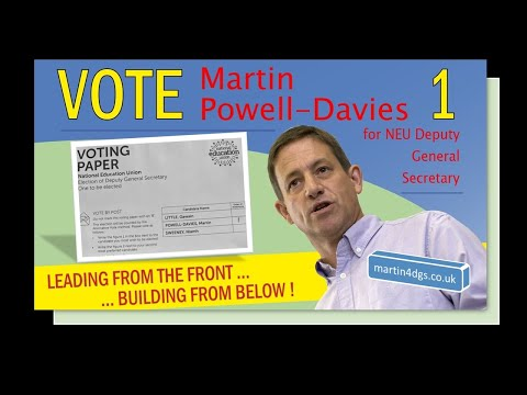 """Hear from just some of the voices, from right across the NEU, that are supporting a Powell-Davies """"1"""" vote in the election for Deputy General Secretary this October."""