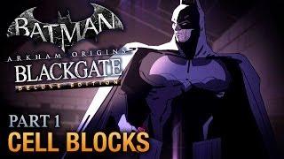 Batman: Arkham Origins Blackgate Walkthrough - Part 1 - Cell Blocks [Deluxe Edition]