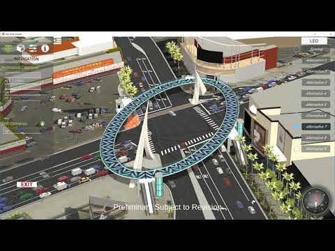 Interactive Application for Communicating Pedestrian Bridge Alternatives on Las Vegas Blvd at Sahara