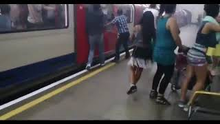 Incident London Underground. People stuck in the train