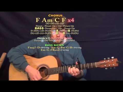 Hollow (Tori Kelly) Guitar Lesson Chord Chart - Capo 5th