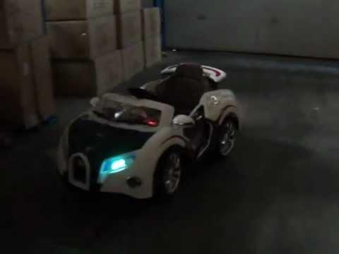 kinder accu auto bugatti veyron blauw youtube. Black Bedroom Furniture Sets. Home Design Ideas