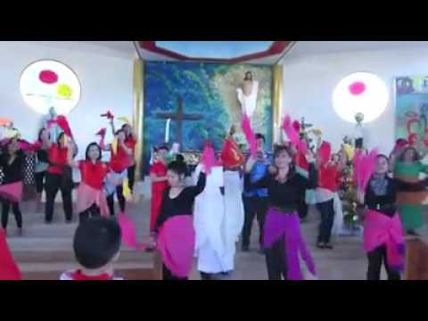Sinulog Dance for the Feast of Santo Nino Holy Child at Resurrection of the Lord Chinese