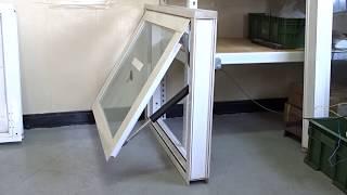 電動推桿 ELA35 / 建築行業應用 / 電動開窗器 / 下掀式窗戶開啟 10mm強化玻璃 窗框尺寸100x80cm