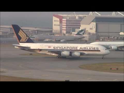 Singapore A380 Takeoff with live ATC!!