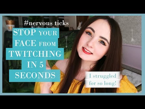 STOP NERVOUS FACE TICK In 5 SECONDS! Safe Years Of Struggle Of Face Twitching