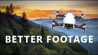 MAVIC AIR --6 Tips & Settings to get BETTER & MORE CINEMATIC FOOTAGE