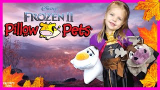 Frozen 2 Anna Adventure to find Elsa with Pillow Pets Olaf and Sven | Frozen 2 Movie In Real Life