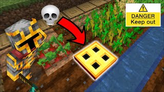 DON'T ENTER THIS TRAPDOOR 99% CHANCE YOU WILL DIE !! SURVIVAL OF THE VILLAGERS !! Minecraft Mod