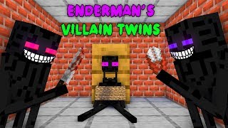 Monster School : EVIL ENDERMAN TWINS CHALLENGE - Minecraft Animation