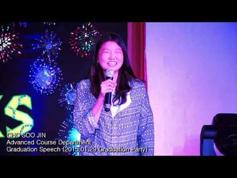 Cho Soo Jin - Graduation Speech アジア 英語 学習 Hoc vien chau A hoc tieng Anh  亞洲學生英語學習 국제학원 国際英語学校