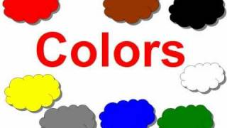 Çocuklar için İngilizce. Renkler.