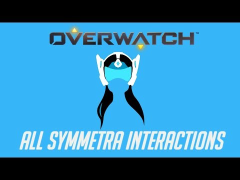 Overwatch - All Symmtera Interactions + Unique Kill Quote