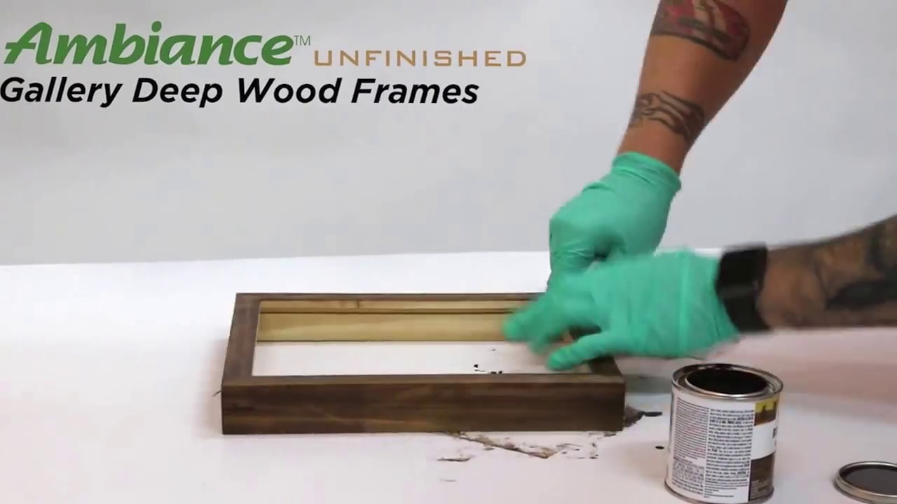 Stain An Unfinished Natural Wood Frame Diy Art Frames Youtube