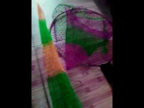 cara membuat jaring ikan - YouTube