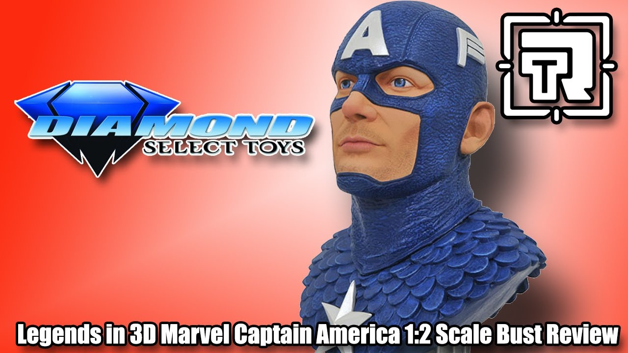 LEGENDS IN 3D MARVEL CAPTAIN AMERICA 1//2 SCALE BUST Statue, New Toy