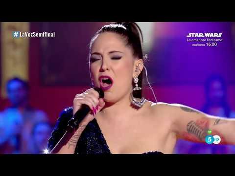 """Alba: """"Golden slumbers / Carry that weight"""" – Semifinal - La Voz 2017"""