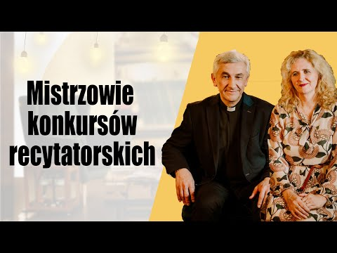 Mistrzowie konkursów recytatorskich - ks. Sylwester Jeż i Anna Żak