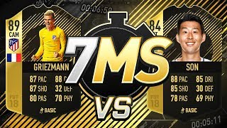 IF GRIEZMANN VS IF SON!!! FIFA 18 7 Minute Squads!