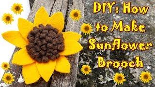 Berikut ini adalah tutorial cara membuat bros bunga matahari dari kain flanel.