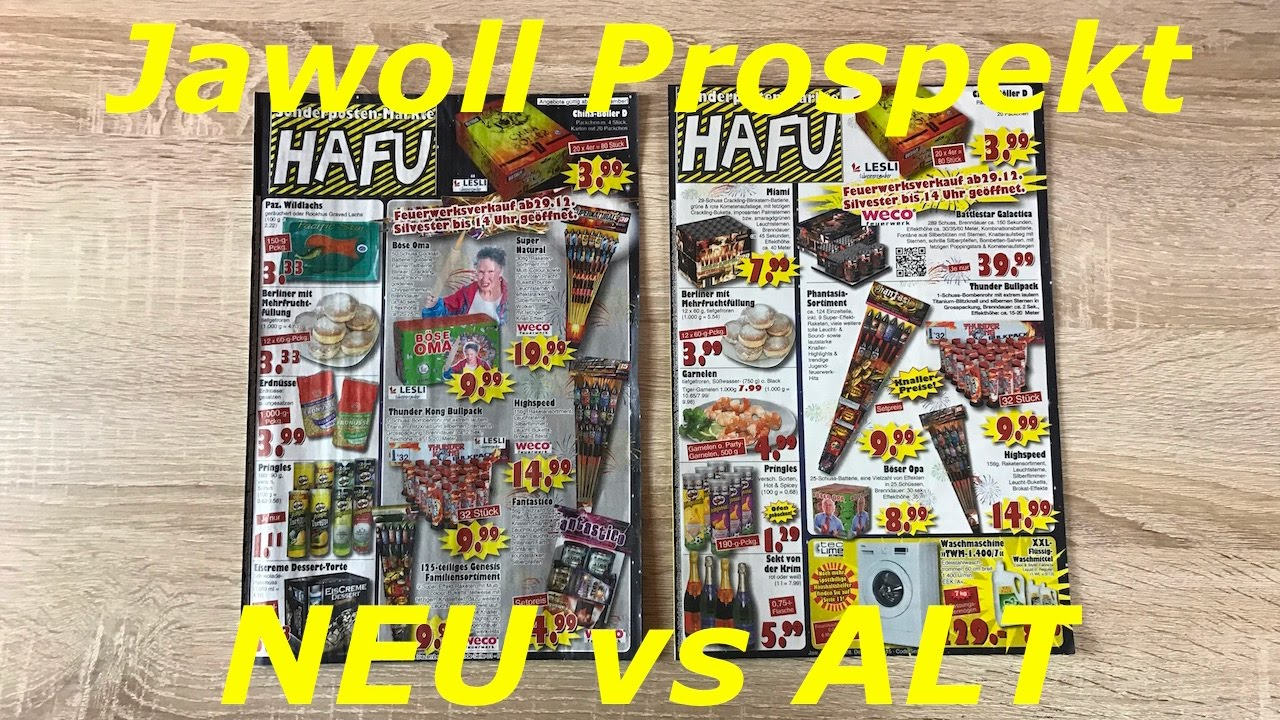 jawoll feuerwerks prospekt 2016 2017 neu vs alt kaufberatung youtube. Black Bedroom Furniture Sets. Home Design Ideas