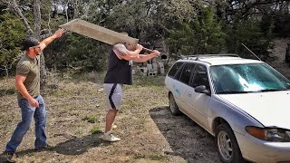 Download Giant Man with World's Biggest Sword vs Car Mp3 and Videos