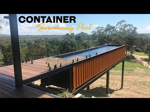 40ft Shipping Container Pool in Noosa Hinterlands, Australia