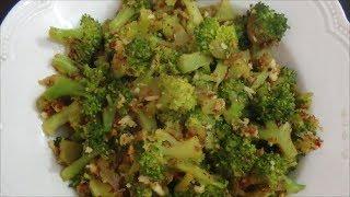 Broccoli Poriyal - Garlic Broccoli Poriyal  By Healthy Food Kitchen