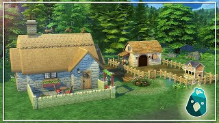 HOW I BUILT THE FOREST STARTER IN THE SIMS 4 COTTAGE LIVING!