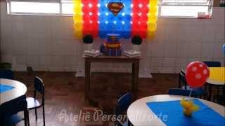 Decoração de festa infantil Super Homem (Festa Escola)