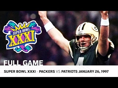 Brett Favre's First Super Bowl Win! | Packers vs. Patriots Super Bowl XXXI | NFL Full Game