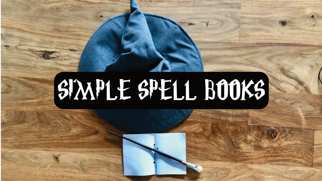 How To Make a Quick and Easy Notebook for Spells - DIY Harry Potter Spell Books