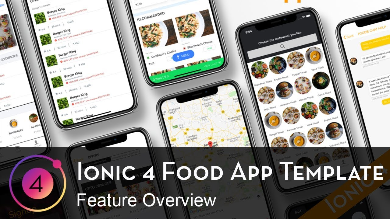 Ionic 4 Food Ordering app starter - Foodie