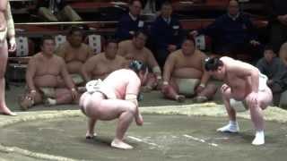 20130427 横審稽古総見 横綱日馬富士vs鶴竜 両国国技館.