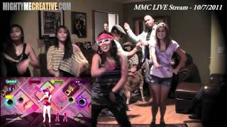 """CALIFORNIA GURLS"" Just Dance 3 (Kinect) - MightyMeCreative LIVE Stream"
