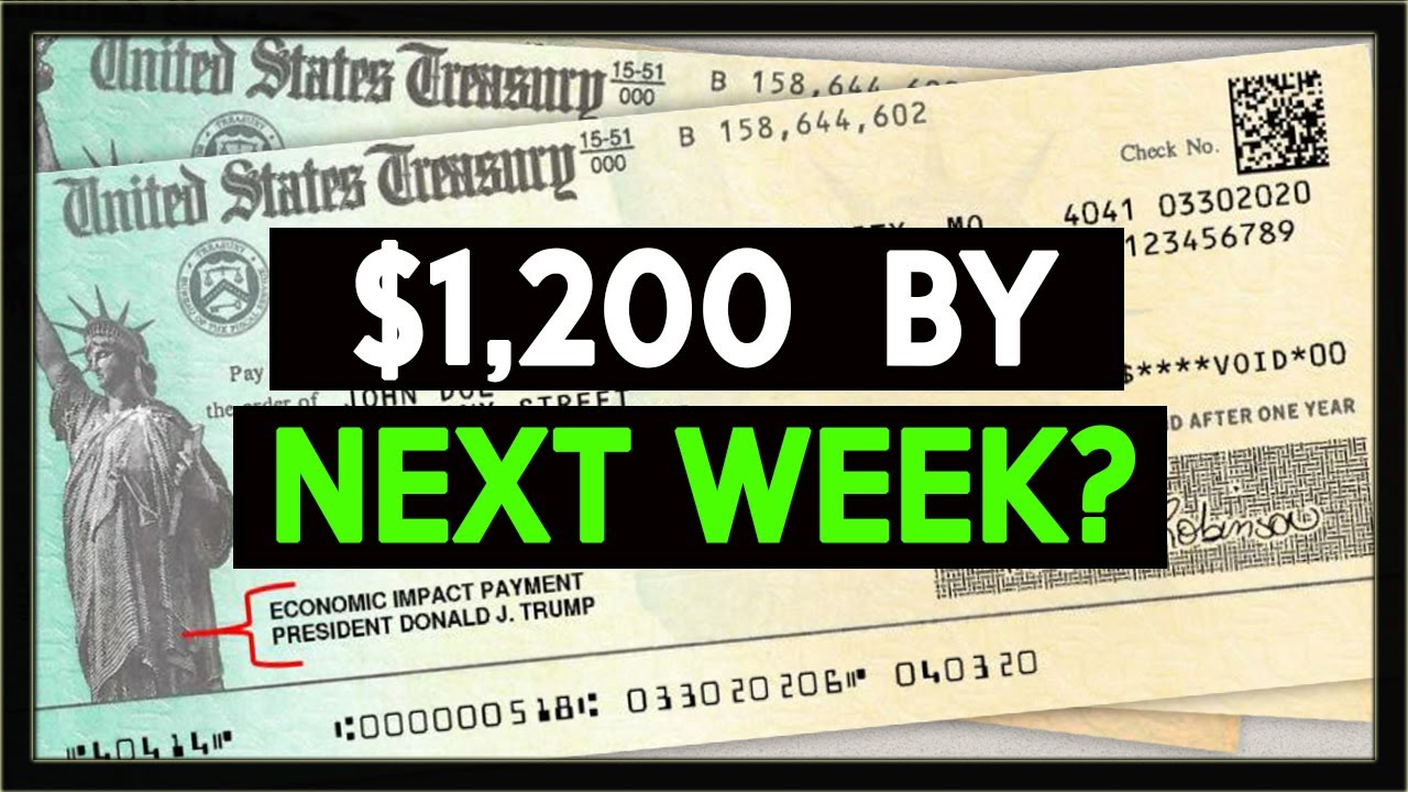 SECOND STIMULUS CHECK UPDATE: $1,200 by Next Week for SSI, SSDI, Social Security?