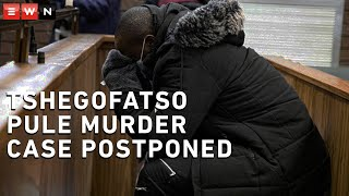 The case against the man accused of killing Tshegofatso Pule has been postponed to 2 July.   Muzikayise Malephane made a brief appearance in the Roodeport Magistrates Court on Wednesday.   Malephane was arrested for the murder of eight-month pregnant Pule after her body was found hanging from a tree in Roodepoort in the middle of June.