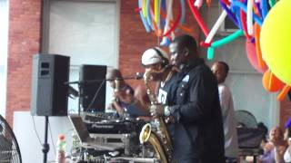 D3 - Underground Resistance throwing down at MoMA PS1 July 2012 Long Island City NYC