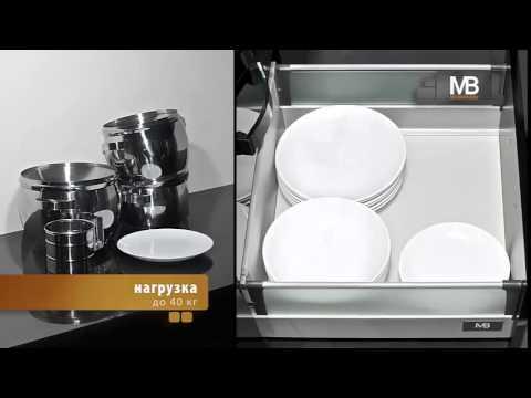 Выдвижные ящики GTV Ящики для кухни и шкафов Модерн бокс