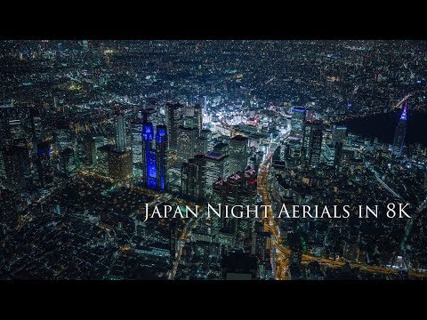 Japan Night Aerials in 8K