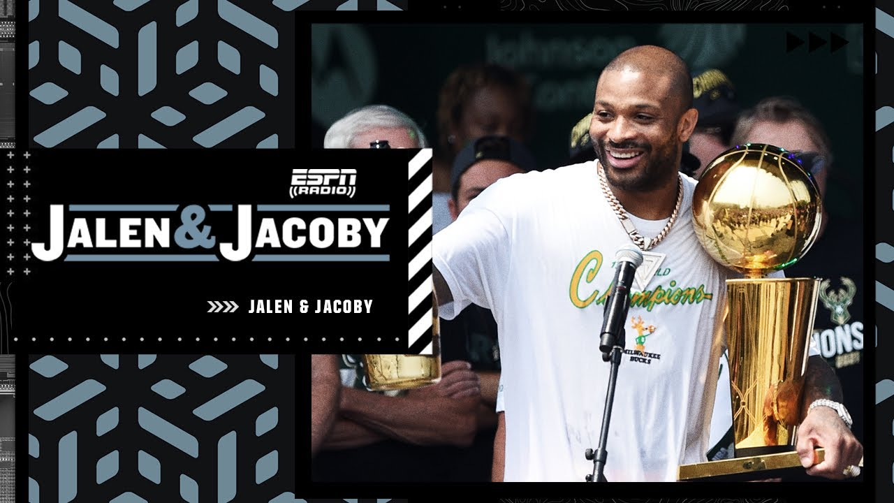 Download Jalen Rose loves P.J. Tucker's 'WE DOGS' speech and the Bucks' championship parade   Jalen & Jacoby