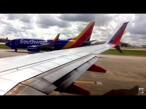 Takeoff From Houston William P. Hobby Airport HOU Southwest Airlines HD 60FPS