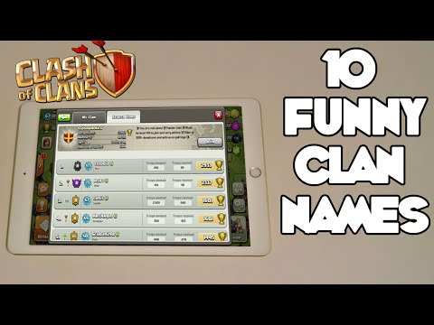 Top 10 FUNNIEST Clan Names In Clash Of Clans