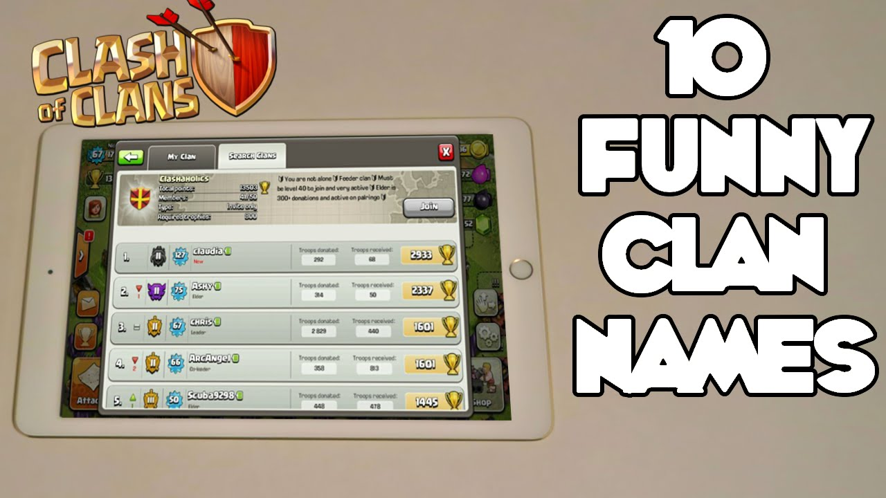 cool clash royale clan names