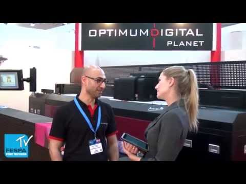 Optimum Digital Planet talk Picasso-tex and UV KR Victor at FESPA Digital 2014
