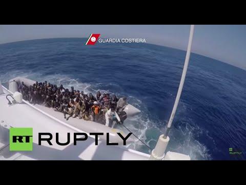 Libya: 111 migrants picked up by Italian coastguard