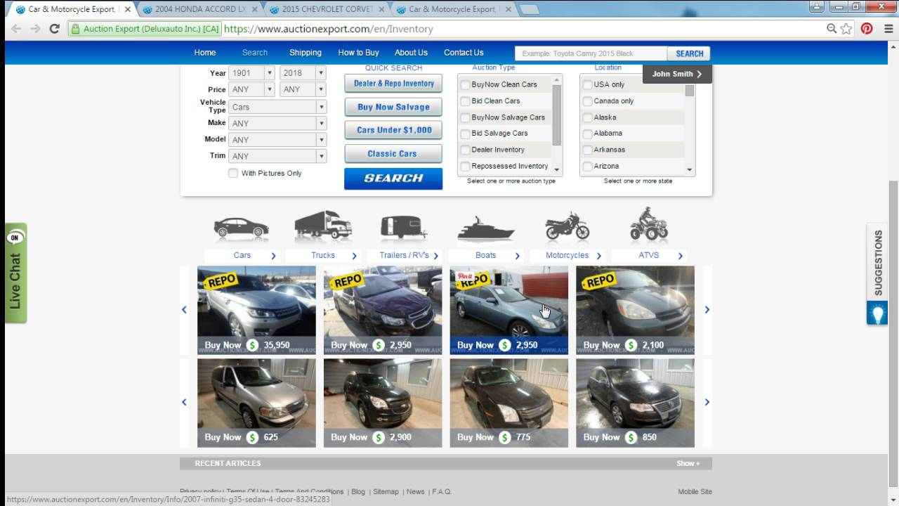 Live Webinar: Buying cars from USA, Live Auction Sale - YouTube