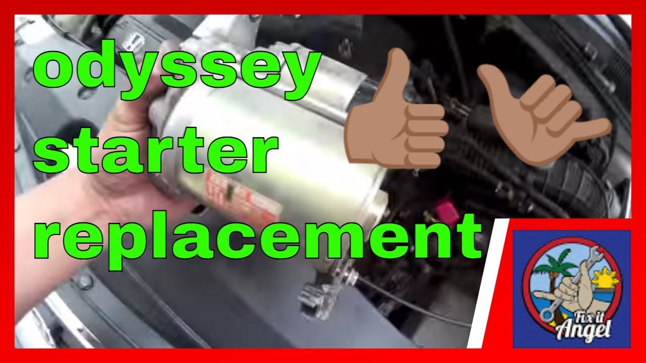 Simple starter motor replacement Honda Odyssey √ Fix it Angel - YouTubeYouTube